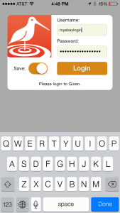 iPhone Gixen Login
